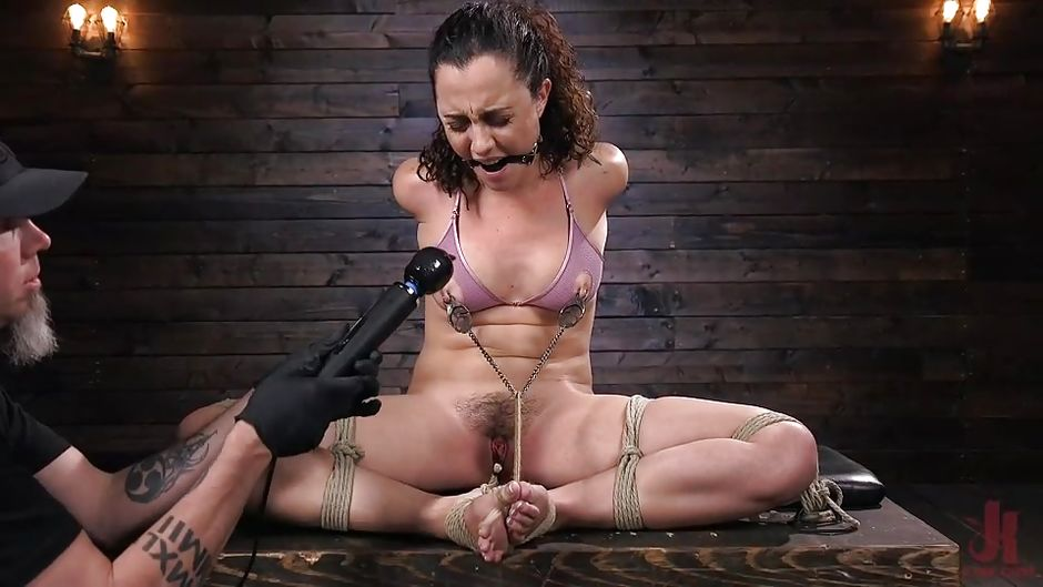 Roped Pussy Torture Muffled