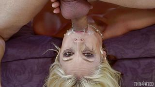 hot blonde milf gets throated
