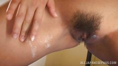 hairy asian pussy filled and glazed