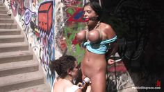 dirty yasmin gets bonded and disgraced in public