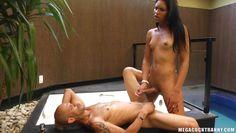 sexy latina tranny has a massive cock