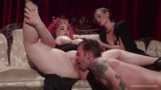 naughty mistress uses horny slave