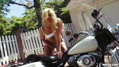 bella masturbates on her motorcycle
