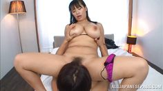 busty nippon mom goes on top