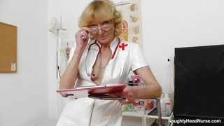 old sexy nurse gaping her pink pussy