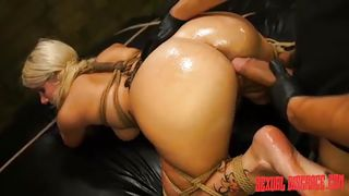 blonde bonded slave gets banged