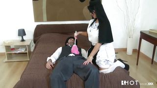 maid sonia sucks a cock