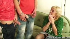 naughty grandma loves young cocks