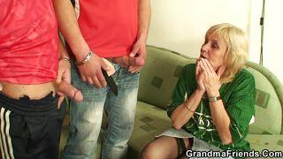 naughty grandma loves young cocks