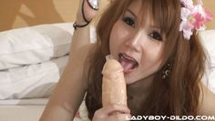 lady boy ching plays with sex toys