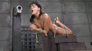 tied up slut has to suck cock