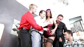 she fucks four guys @ 4 on 1 gang bangs #02