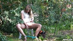 horny harley jade masturbating outdoor
