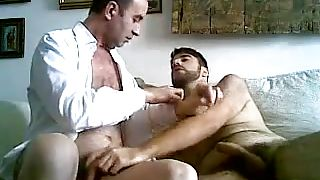 bear and old hunk suck each other off