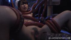 weird alien creature roughly fucks a nurse