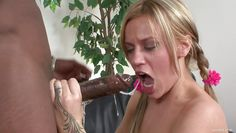 british slut gets some dark american meat!