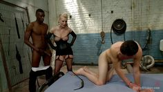 cherry makes her slave boy go bisexual