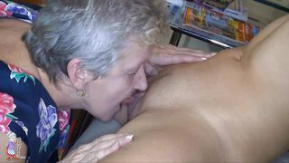 let grandma lick that young pussy
