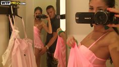 couple is having fun in the dressing room