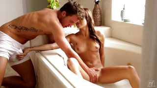 marina angel gets fucked in the bath tub