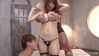 naughty iroha plays with two cocks