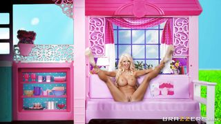 blonde milf getting fucked in her barbie house