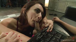 horny mandy sucking a shemale's cock