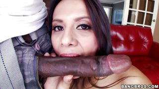 white brunette filled with a bbc