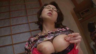 busty japanese babe masturbates
