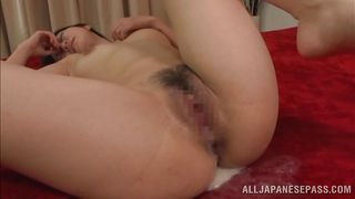 a lot of cum for her hairy cunt