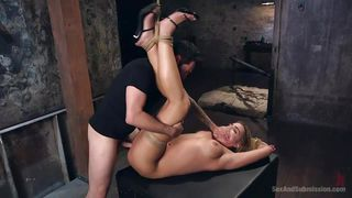 naked blonde slave gets fucked