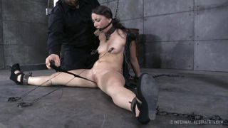 gagged and restrained by her mean master