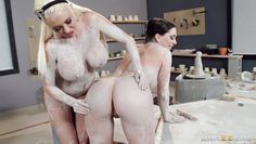 pottery class turns into threesome