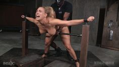 blonde milf gets awfully fucked while restrained