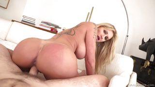 sexy blonde milf rides a massive cock