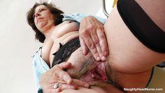 hairy pussy nurse gapes herself