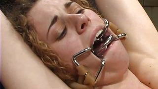 cold metal devices to explore her body limits