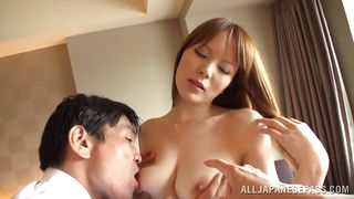cute japanese milf gets her nipples sucked