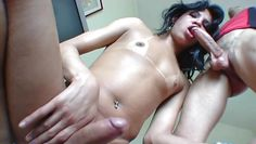 hot tranny takes cock and fucks ass @ monster cock she-males #04