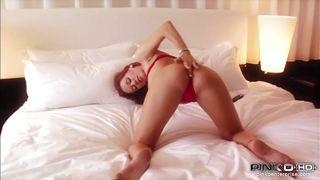 sensual redhead babe masturbating