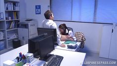japanese coworkers stay late for office sex