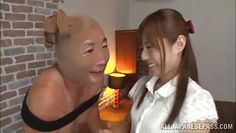 japanese milf plays with a pervert