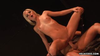 hot blonde spreads her pussy for a hot rod