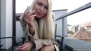magma film busty blonde german babe rubs her beautiful pussy