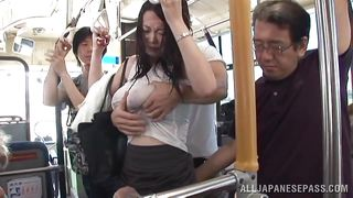 a hot summer day in the bus