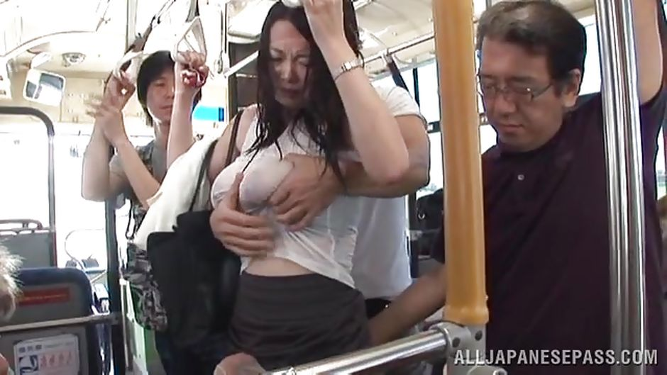 Japan public sex in bus and