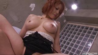 sensual redhead asian chick