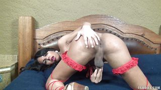 ts doll plays with herself