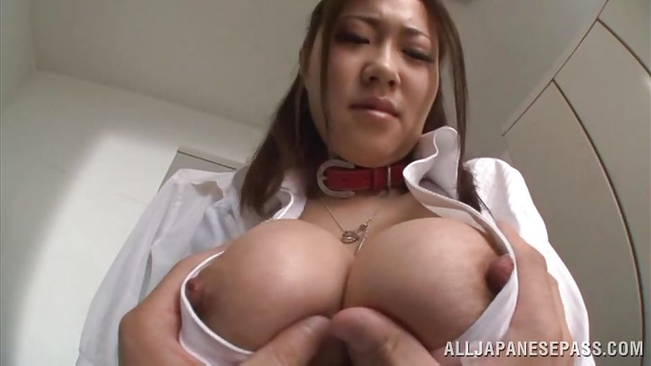 Japanese big boobs sucked