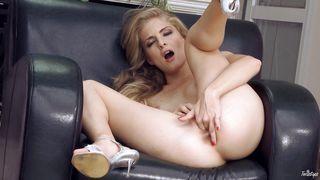 fascinating blonde masturbates